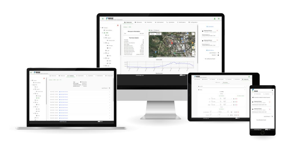 Maps Group Rose desktop e mobile screens